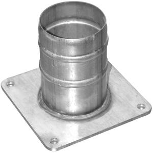 RACCORD DROIT ROND/CANNELE  EN ACIER GALAVANISE POUR POMPE DN80