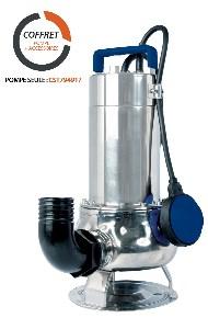 POMPE DE RELEVAGE POUR EAUX VERTES / BRUNES MONOPHASEE 0,75KW DN40 AVEC ACCESSOIRES
